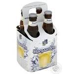 Пиво Hoegaarden White светлое нефильтрованное 4*0,33л стекло