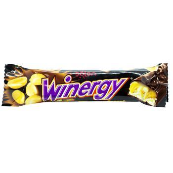 Батончик Winegry в молочном шоколаде с карамелью нугой арахисом 30г