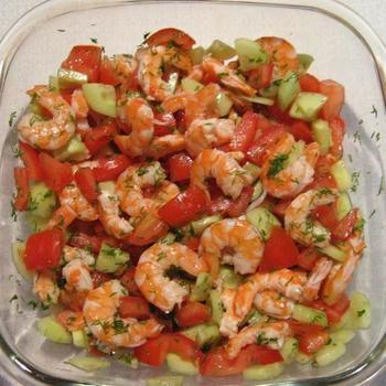 Овочевий салат з креветками