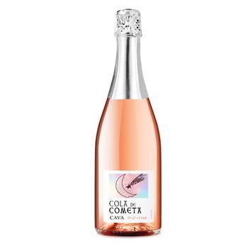 Вино игристое Cola de Cometa Cava розовое брют 11,5% 0,75л - купить, цены на Ашан - фото 1