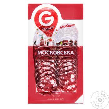 Колбаса Глобино Московская сырокопченая нарезка 80г - купить, цены на Ашан - фото 4