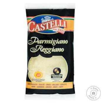 Сыр твердый Castelli Пармезан тертый 32% 70г - купить, цены на Фуршет - фото 1