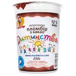 Мороженое Мушкетер Пломбир детства с какао 250г