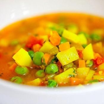 Индийский суп с горошком