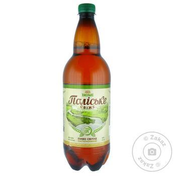 Пиво Хмільне Поліське Свіже світле 4,4% 1л - купити, ціни на Novus - фото 1