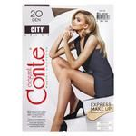Колготки женские Conte City 20ден р.4 Bronz