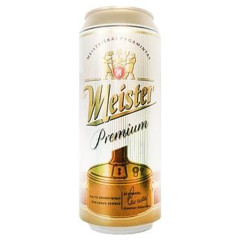 Meister Premium Light Filtered Beer 5% 0.5l - buy, prices for Auchan - photo 1