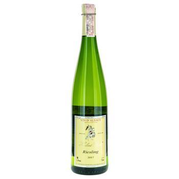 Вино Рислинг 12 Hubert Beck белое полусухое 0.75л - купить, цены на Фуршет - фото 1