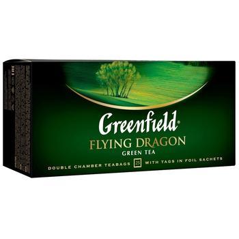 Green tea Greenfield Flying dragon 25 tea bags 50g - buy, prices for Novus - image 1