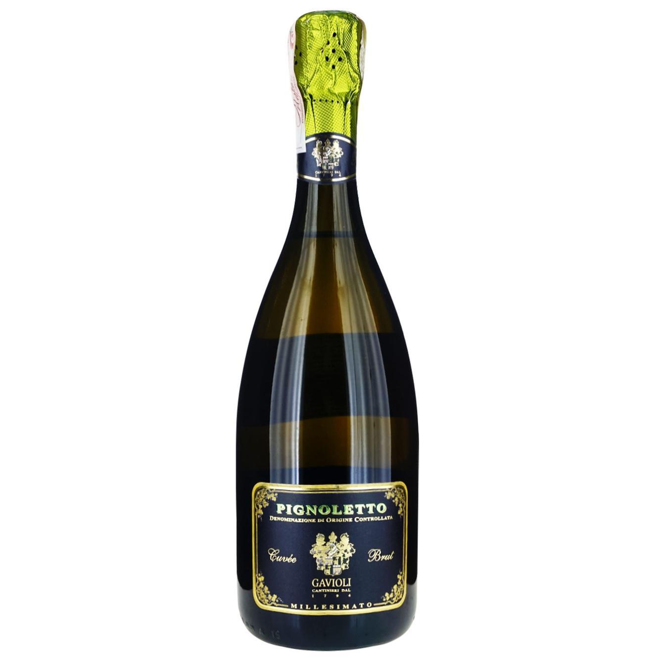 Вино игристое Giacobazzi Pignoletto Gavioli Brut 11.5% 0,75л