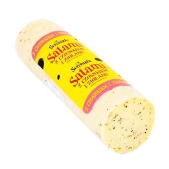 Сыр Serenada салями с чесноком и зеленью весовой