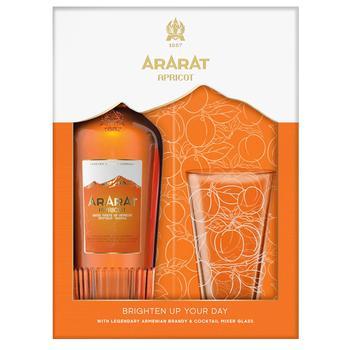 Напиток алкогольный Арарат Абрикос 0,7 35% + 1 стакан