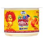 Йогурт Lactel Локо Моко персик, обогащенный кальцием, омега 3 и витамином D3 1,5% 115г