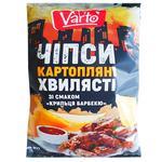 Чипсы Varto волнистые со вкусом крылышки барбекю 110г