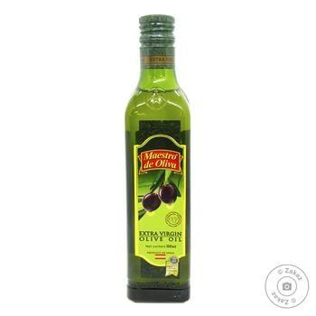 Масло оливковое Maestro de Oliva Extra virgin 0,5л - купить, цены на Novus - фото 1