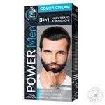 Краска для волос, бороды и усов Power Men 3в1 02 темно коричневая 60г