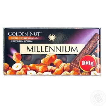 Millennium Golden Nut Black Chocolate with Whole Hazelnuts 90g - buy, prices for Furshet - image 2