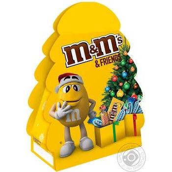 Набір новорічний M&M's & Friends Новорічна Ялинка 105г