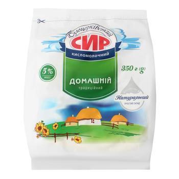 Сир Білоцерковський кисломолочний 5% 350г
