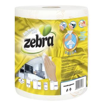 Полотенца бумажные Zebra Эконом 150шт