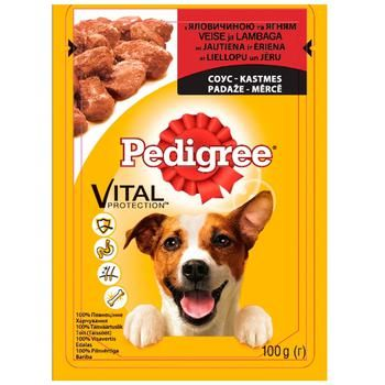 Pedigree for puppies in sauce with beef and lamb food 100g - buy, prices for Auchan - photo 1