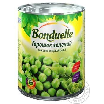 Горошек Бондюэль зеленый консервированный 850мл - купить, цены на Novus - фото 1