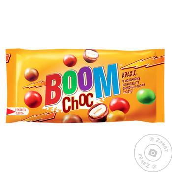 Драже Boom Choc Арахис в молочном шоколаде и разноцветной глазури 50г - купить, цены на Novus - фото 1