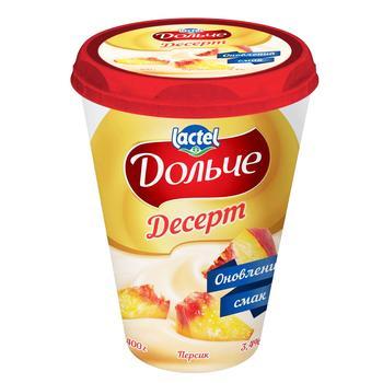 Десерт творожный Дольче персик 3,4% 400г