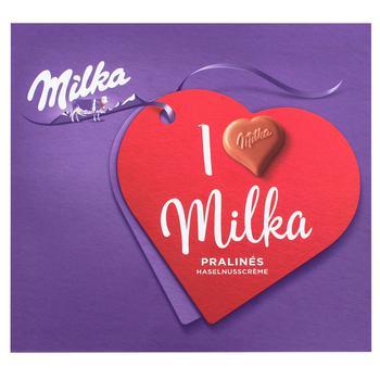 Конфеты Milka из молочного шоколада с ореховой начинкой 110г