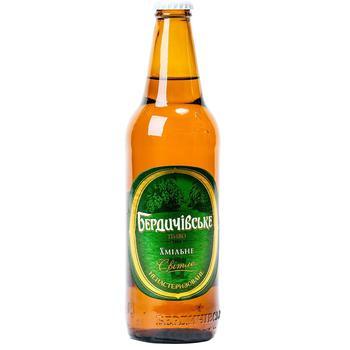 Пиво Бердичівське Хмільне  світле 3,7% 0,5л - купити, ціни на Ашан - фото 1