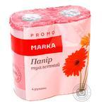 Папір туалетний кольоровий 2-шаровий не ароматизований 4рулона в упаковці Marka Promo