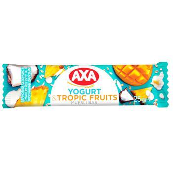 Батончик злаковый AXA со вкусом йогурта и с тропическими фруктами 25г - купить, цены на ЕКО Маркет - фото 1