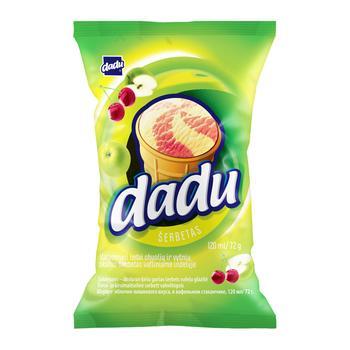Мороженое Dadu Яблоко-Вишня в стаканчике 125мл