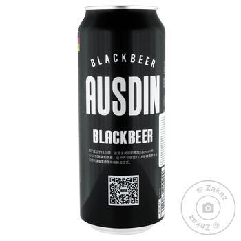 Ausdin Schwarzbier Dark Filtered Beer 4.5% 0.5l - buy, prices for MegaMarket - image 1