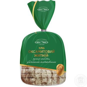 Хлеб Киевхлеб Бархатный ржаной половина нарезка 350г - купить, цены на Novus - фото 3