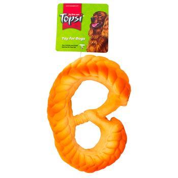 Игрушка для животных Topsi вкусная булочка 13см - купить, цены на Метро - фото 1