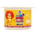 Йогурт Lactel Локо Моко банан, обогащенный кальцием, омега 3 и витамином D3 1,5% 115г