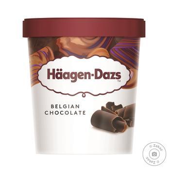 Морозиво Haagen-Dazs Бельгійський шоколад пломбір 400г