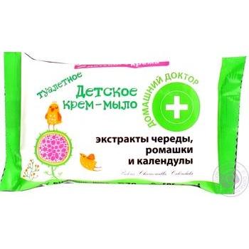 Крем-мыло Домашний Доктор детское с экстрактом череды, ромашки и календулы 70г - купить, цены на ЕКО Маркет - фото 3