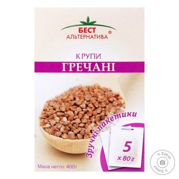 Groats buckwheat Best alternativa 400g cardboard box - buy, prices for Novus - image 1