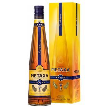 Бренді Metaxa 5* 38% 0,7л - купити, ціни на Метро - фото 2