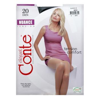 Колготы женские Conte Nuance 20ден р.4 Nero - купить, цены на СитиМаркет - фото 3
