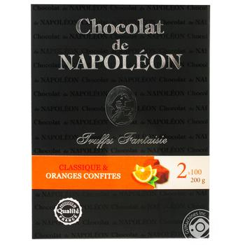 Chocolat de Napoleon Classic Fantaisie Truffle With Candied Oranges Candy 2*100g - buy, prices for MegaMarket - image 1