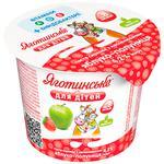 Паста сиркова Яготинське для дітей яблуко-полуниця з 8 місяців 4,2% 100г