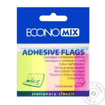 Закладинки паперові Economix 5 кольорів - купити, ціни на Метро - фото 1
