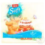 Салфетки Varto Soft столовые бумажные с рисунком 33х33см трехслойные 20шт