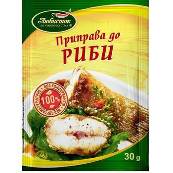 Приправа Любисток к рыбе 30г - купить, цены на ЕКО Маркет - фото 1