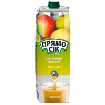 Pryamosik Apple juice 1l - buy, prices for CityMarket - photo 1