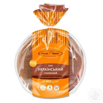 Хлеб Киевхлеб Украинский Столичный нарезанный 950г - купить, цены на Ашан - фото 1