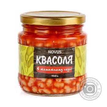 Квасоля ніжна в томатному соусі Novus с/б 460г - купить, цены на Novus - фото 1